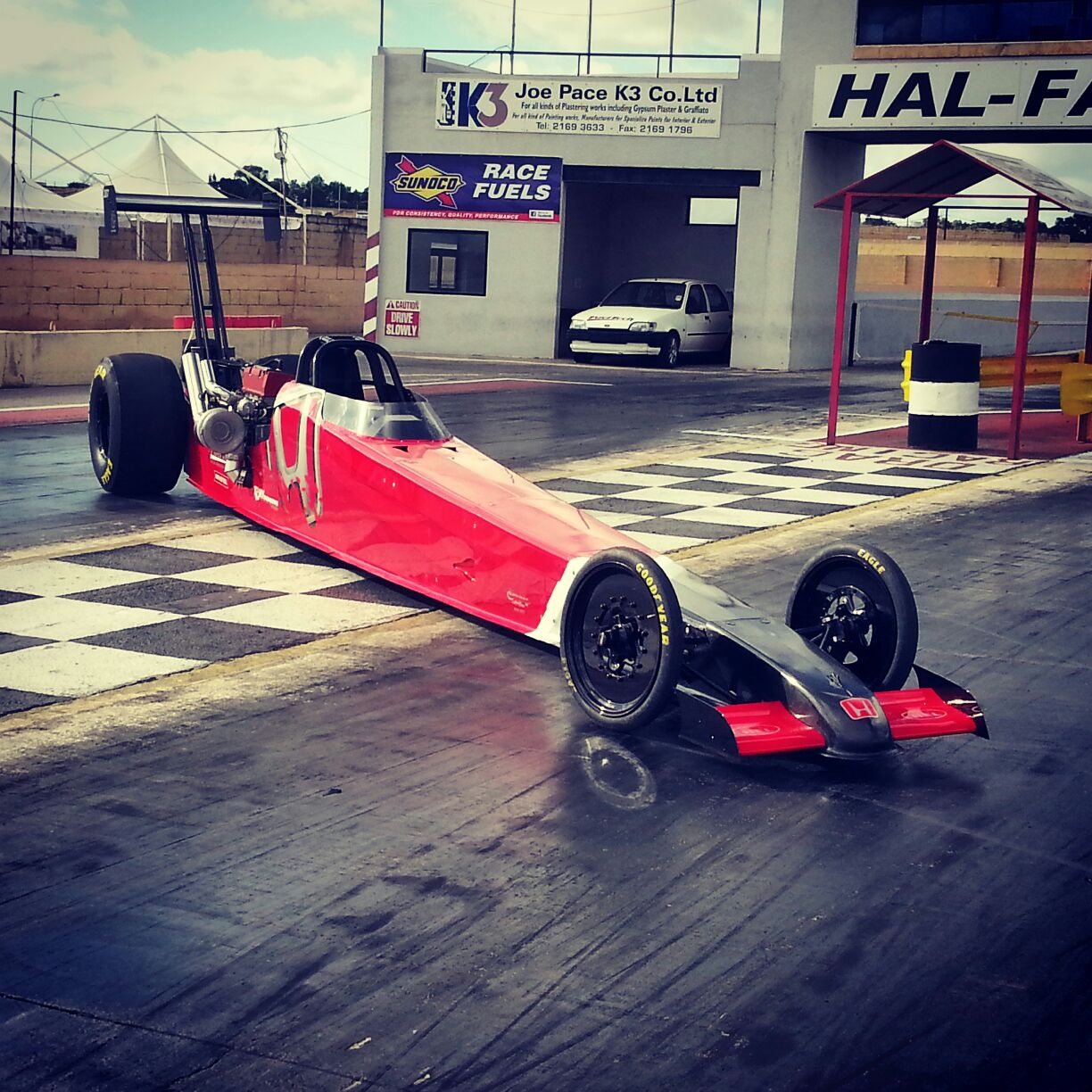 KING Miguel on his K20 Dragster Turbo