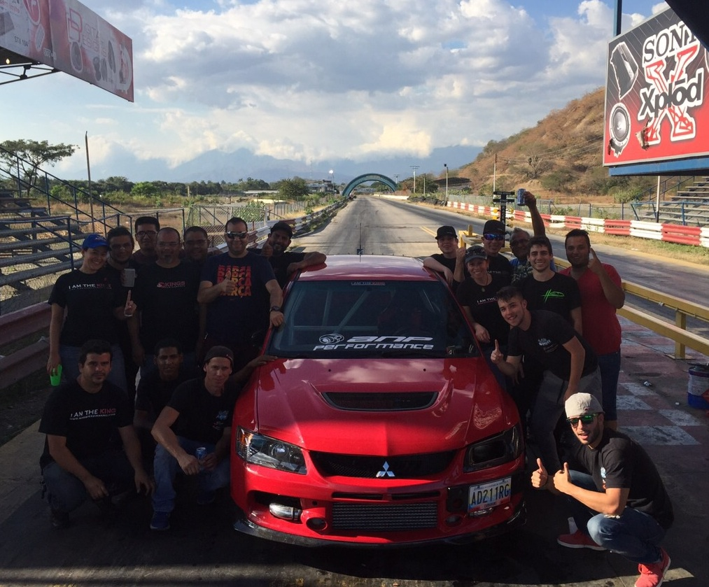 "KING ""El Parce"" Mitsubishi EVO resets the Venezuelan 1/4 mile Record"
